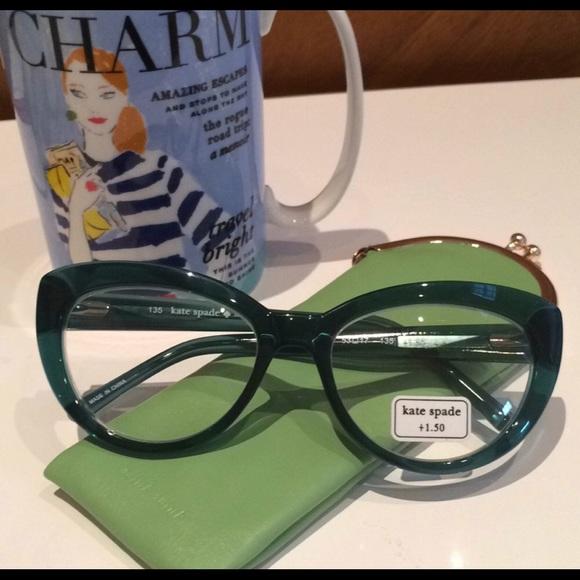 6525db58253 kate spade Accessories - Kate Spade Cat Eye +1.5 Reading Glasses.